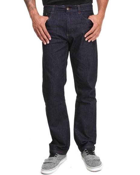 - Men Blue Kangol Denim Jeans