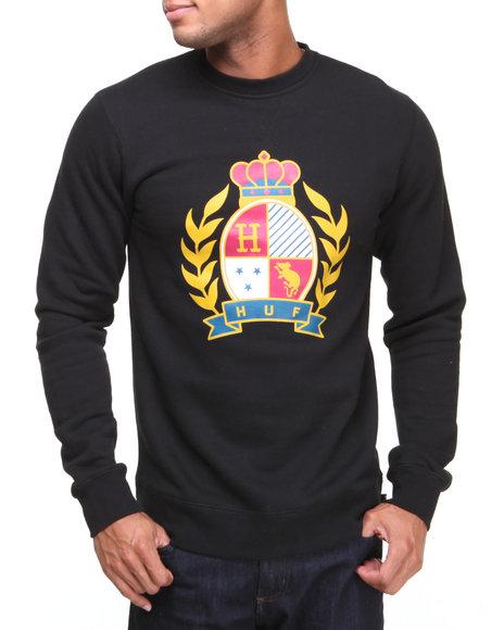 Huf - Men Black Crested Crew Sweatshirt