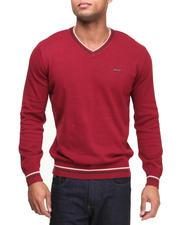 Men - Solid V-Neck Sweater