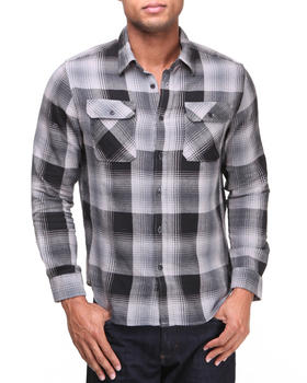 HUF - Shadow Plaid Flannel L/S Button-down