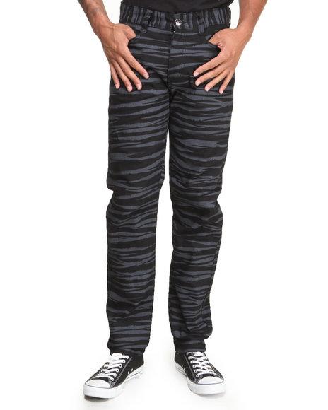Mo7 - Men Black Tiger Camo Twill Pants