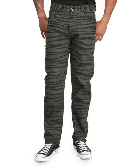 Mo7 - Men Olive Tiger Camo Twill Pants
