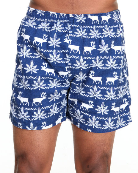Huf - Men Navy,White Nordic Flannel Boxers