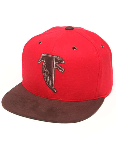 Mitchell & Ness Atlanta Falcons Nfl Throwbacks Brown Winter Suede Red