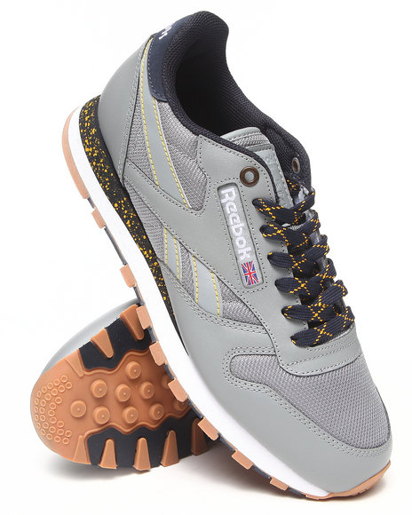 Reebok - Men Grey Cl Leather Ballistic Speckled Sneakers