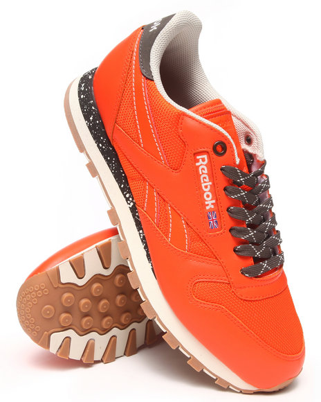 Reebok - Men Orange Cl Leather Ballistic Speckled Sneakers