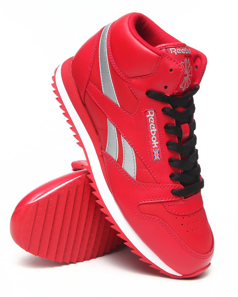 Reebok Red Cl Leather Mid Ripple Sneakers