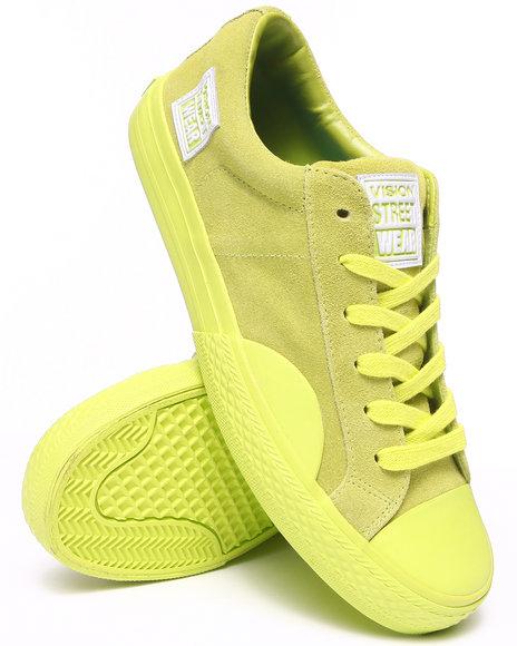 Vision Street Wear Neon Green Suede Low Sneakers