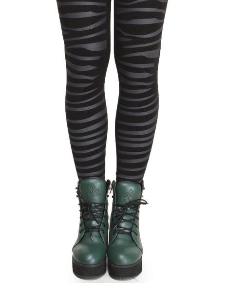 Rampage Zebra Fleece Lined Legging Black