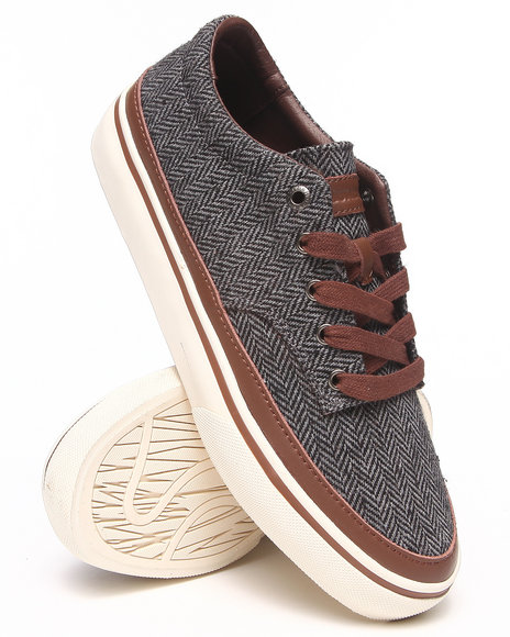 The Hundreds Grey Johnson Low Harringbone Sneakers