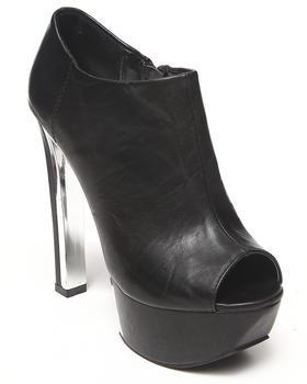 Fashion Lab - Julie Platform Bootie w/ Metal Accent & Zipper