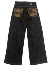 Boys - JEANS W/ CAMO BACK POCKETS (8-20)
