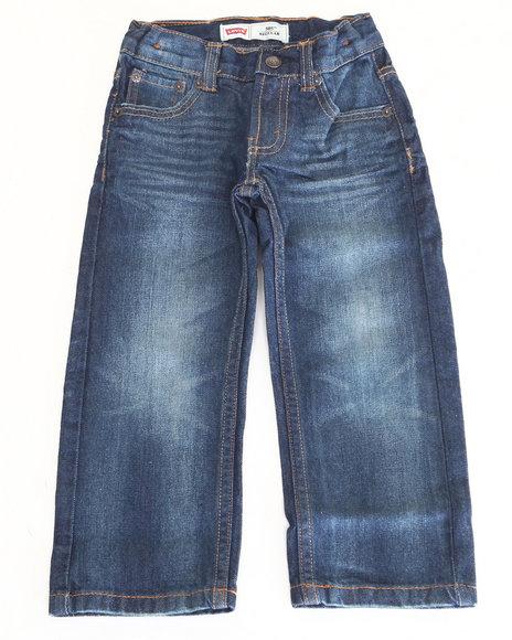 Levi's Boys Medium Wash 505 Vip Regular Fit Jeans (2T-4T)