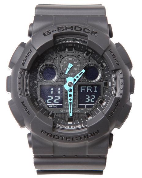 G-Shock By Casio Men Ga-100 Neon Highlights Watch Black 1SZ