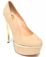 Fashion Lab - Hannah Platform Pump w/ Gold Accent