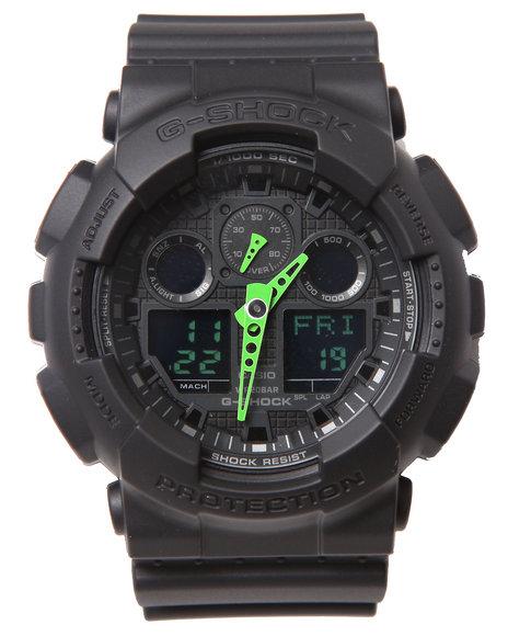 G-Shock By Casio Men Ga-100 Neon Highlights Watch Lime Green 1SZ