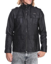 Men - Faux Leather Garment Washed Jacket