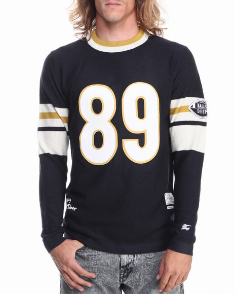 Hall of Fame Navy Bavaro Football Knit Top