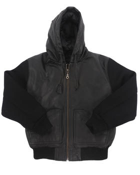 DRJ Leather Shoppe - Leather Bomber w/ Hood (8-20)
