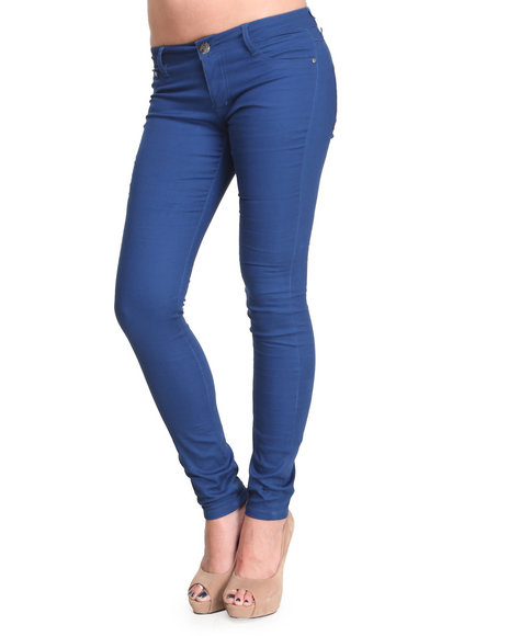Basic Essentials - Women Blue Estate Blue Skinny Jeans