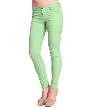 Basic Essentials - The Green Apple Skinny Jean Pants