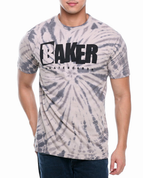 BAKER Grey Reset Logo Tie-Dye Tee