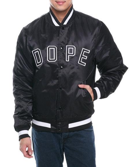 DOPE Black Classic Baseball Jacket