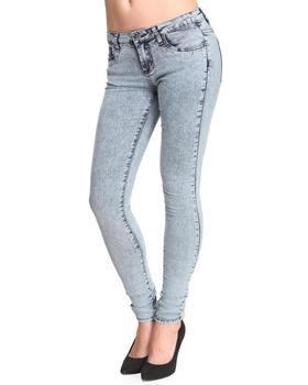 Basic Essentials - Blue Acid Skinny Jean Pants