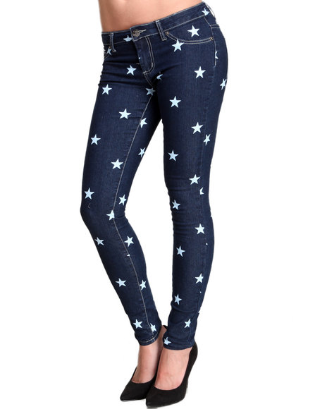 Basic Essentials - You're A Star Printed Skinny Jeans