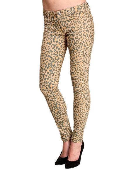 Basic Essentials - Cheetoh Animal Print Skinny Pant