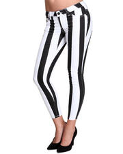 Basic Essentials - Beatle Stripe Skinny Jean