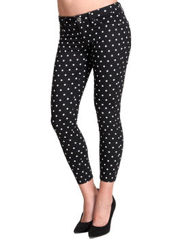Basic Essentials - Polka Dot Skinny Jean Pants