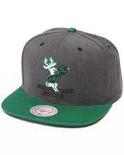 Men - Milwaukee Bucks NBA HWC / Current Dark Heather 2 Tone Snapback Hat