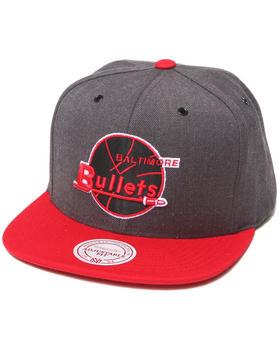 Mitchell & Ness - Baltimore Bullets NBA HWC / Current Dark Heather 2 Tone Snapback Hat
