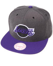 Men - Los Angeles Lakers NBA HWC / Current Dark Heather 2 Tone Snapback Hat