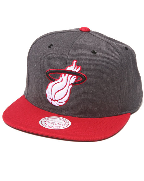 Mitchell & Ness Men Miami Heat Nba Hwc / Current Dark Heather 2 Tone Grey - $30.00