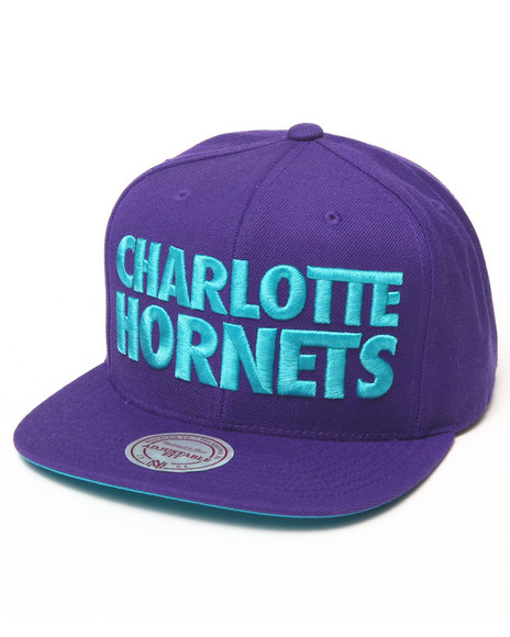 Mitchell & Ness Charlotte Hornets Nba Hwc / Current Title Snapback Teal