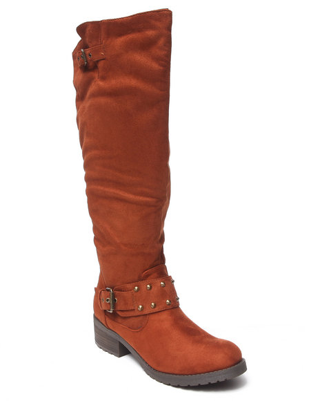 Fashion Lab - Hillary Over the Knee Faux Suede Riding Boot