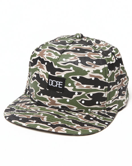 Dope Men Dotted Snapback Camo