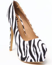 Fashion Lab - Allison Platform Pump w/ Wrap Heel