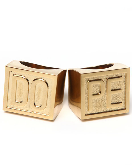 DOPE - Men Gold Rebel Rings (Set)