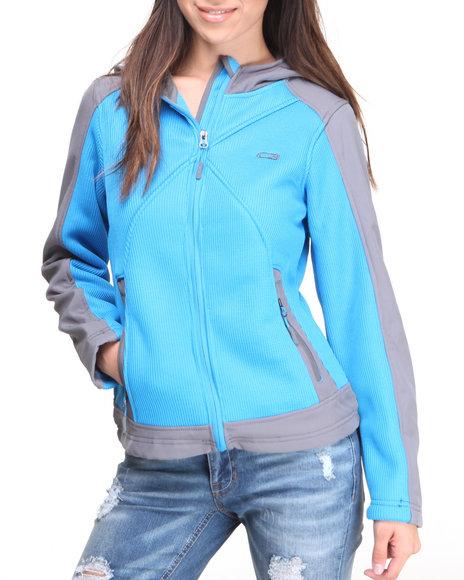 Cb - Women Blue Spyder W/Soft Shell Fleece Jacket