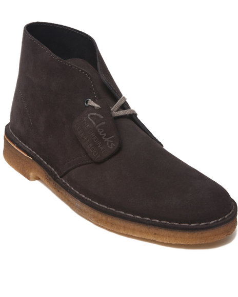 Clarks - Men Grey Desert Boots - $83.99