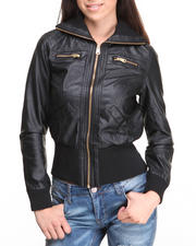 Rampage - Distressed Vegan Leather Jacket