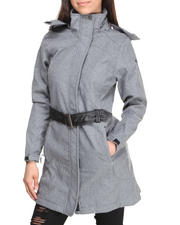 Outerwear - Fashion Softshell Lined Jacket w/belt