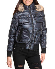 Rocawear - Trendy Short Puffer Bubble Camo Coat