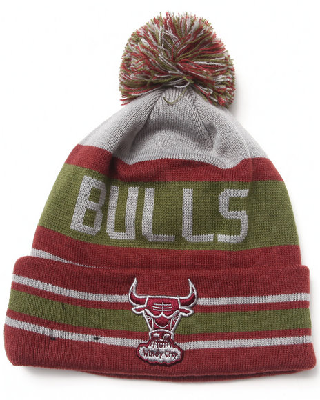 New Era Men Chicago Bulls Fashion Jake Knit Hat Maroon