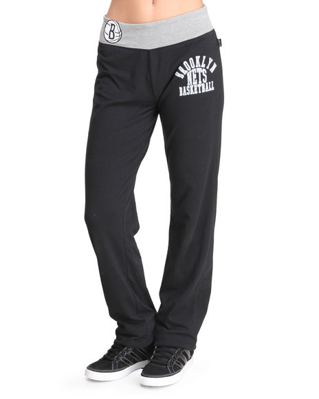 Nba Mlb Nfl Gear - Women Black Nets Overtime Sweatpants