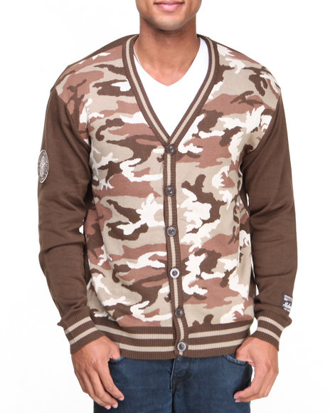 Akademiks - Men Brown Ground Zero Cardigan Sweater