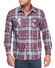 Men - Brooks L/S Plaid Button Down Shirt
